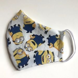 2/$15 NEW Minions Adult Small Face Mask Cotton